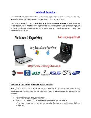 Notebook Repairing