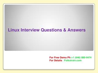 Linux Online Training