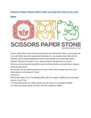 Scissors Paper Stone offers super cool haircut in Singapore