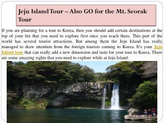 Jeju Island Tour