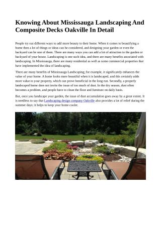 Landscaping Design Company Oakville