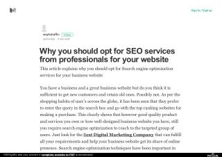 Why you should opt for SEO services from professionals for your website