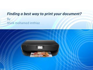 123 HP Printer Setup 4520