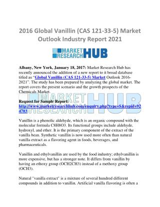 Global Vanillin (CAS 121-33-5) Market Research Report 2021