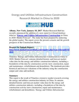 China Energy and Utilities Infrastructure Construction Research Market 2020