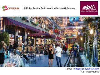 Aipl Joy Central a soft launch project in Sector 65 gurgaon