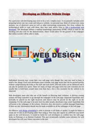 Developing an Effective Website Design