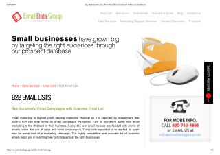 B2B Email List from Email Data Group