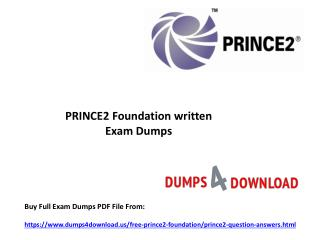 Get Verified PRINCE2 Foundation Exam Questions - PPT Slide