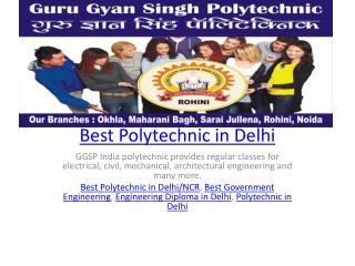 Best Polytechnic in Delhi