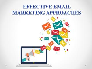 Approaches for Effective Email Marekting