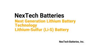 NexTech Batteries Lithium-Sulfur Slides 01-18-17