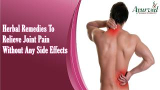 Herbal Remedies To Relieve Joint Pain Without Any Side Effects