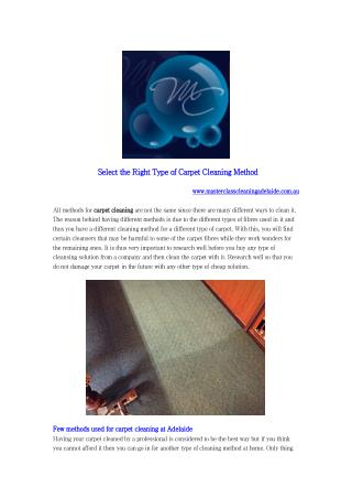 carpet cleaning services Adelaide