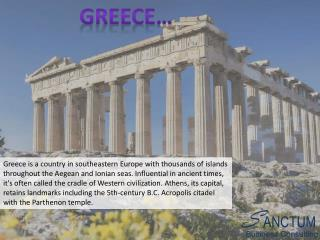 Looking for Greece Tourist visa - Contact Sanctum Consulting