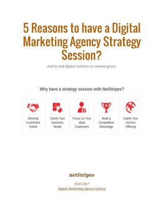 5 Reasons to have a Digital Marketing Agency Strategy Session?