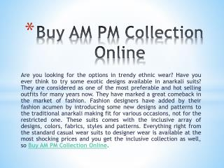 Buy AM PM Collection Online