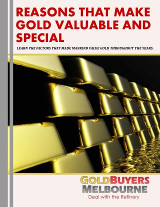 The Edge of Gold Over Other Metals