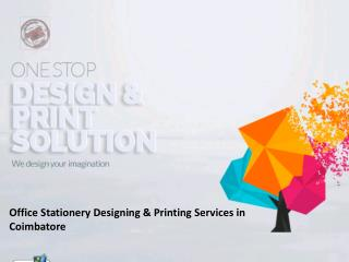 Office Stationery Designing & Printing Services in Coimbatore