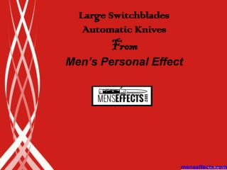 Large Switchblades Automatic Knives from Mens Personal Effect