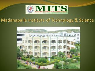 Study from Best Engineering College with MITS