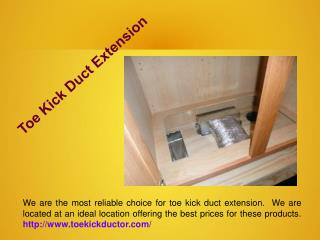 Toe Kick Duct Extension
