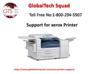Xerox Installation Support Toll Free: 1-800-294-5907