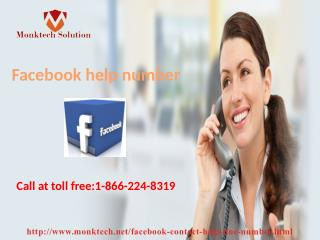 Facebook Help Number 1-866-224-8319: The best in town