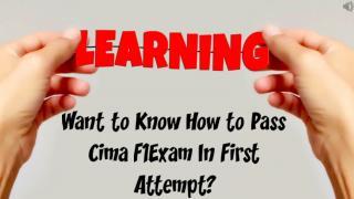 Cima F1 Exam Questions