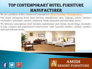 Top Contemporary Hotel Furniture Manufacturer