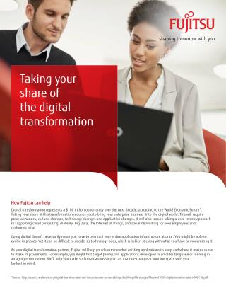 Taking your share of the digital transformation with Fujitsu Enterprise Application Services