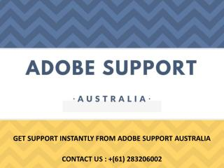 Issues Fixed by Calling Adobe Tech Helpline Number Australia