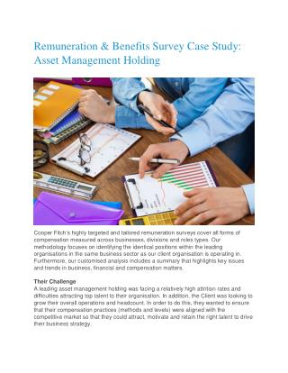 Remuneration & Benefits Survey Case Study: Asset Management Holding