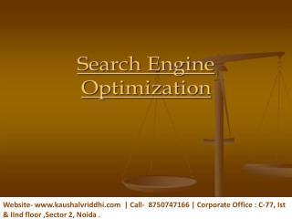 Advance SEO Training -Become an Expert Yourself-Kaushalvriddhi.com