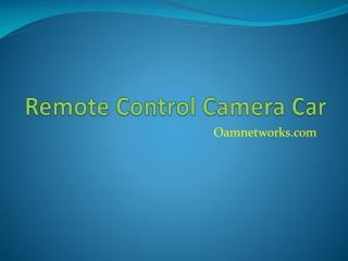 Remote control camera car