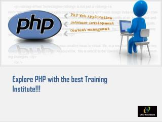 Explore PHP with the best Training Institute