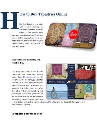 Mandala Tapestry- Shop Handmade Wall Hanging Tapestries Online