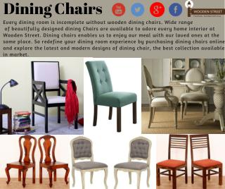 Dining Chairs in India at discount price @ Wooden Street