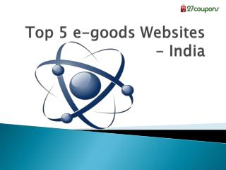 Top 5 e-goods websites