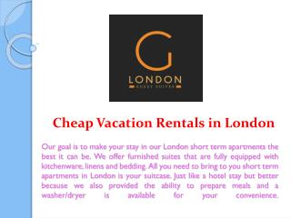 Cheap Vacation Rentals in London