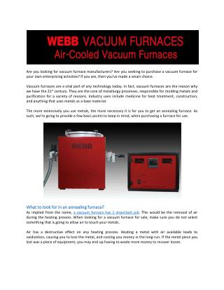 Why You May Need A Vacuum Sintering Furnace