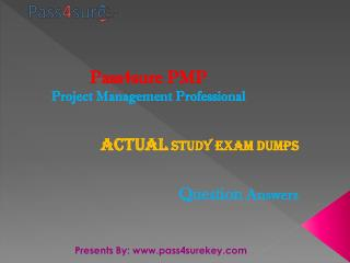 Pass4surekey pmp up to date exam questions