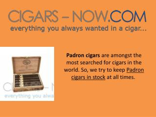 Buy Padron Cigars At Wholesale Prices