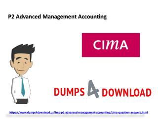 Pass P2 CIMA Exam Question - Dumps4Download