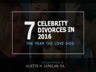 Top 7 Divorce in 2016
