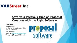Save your Precious Time on Proposal Creation with the Right Software