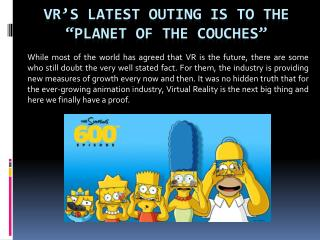 """VR's Latest Outing Is To The """"Planet Of The Couches"""""""