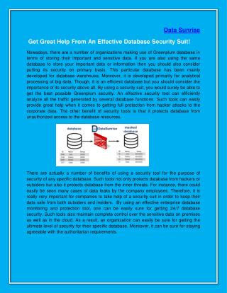 Get Great Help From An Effective Database Security Suit!