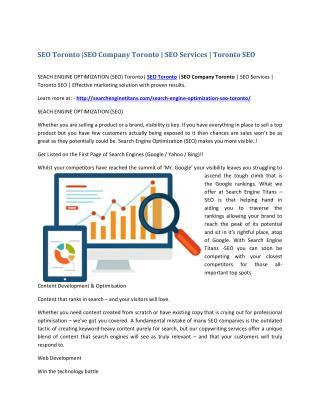 SEO Toronto |SEO Company Toronto | SEO Services | Toronto SEO