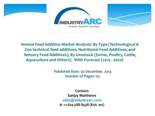 Animal Feed Additive Market Driven By Rising Awareness Amongst the Consumers